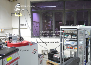 PCAR probe with PPMS cryostat and electronics