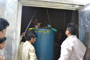 lowering the cryostat B