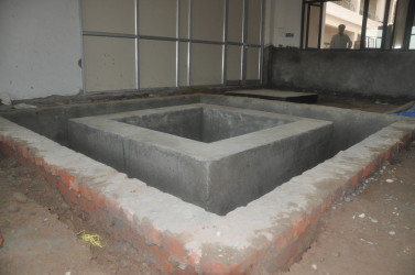 vibration isolation pit